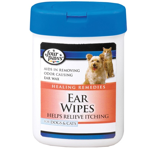 [해외]Four Paws Ear Wipes for Dogs & Cats (25 Wipes)